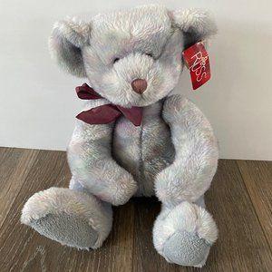 Russ Berrie Opal Teddy Bear Plush Ribbon Retired